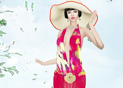Snowpaws - Licou Halter Dress (Rehana MiSS SLVietnam, Face of CHOP ZUEY 2015) Tags: fashion secondlife laboheme boon rehana newrelease slink saikin posesion snowpaws chopzuey rehanaseljan