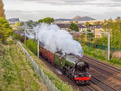 The Flying Scotsman (Graeme Pow) Tags: train scotland edinburgh edinburghcastle engine scottish arthursseat steamtrain salisburycrags flyingscotsman cathedralsexpress 60103
