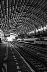 There Must Be Somekind Of Way Out Of Here! (Alfred Grupstra Photography) Tags: windows light haarlem station train nederland nl noordholland