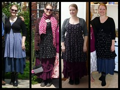dress + skirt + cropped cardi combos (M lambie) Tags: wardrobe outfits garments