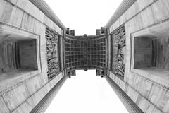 Arco della Pace (LichtCatchingToby) Tags: street italy fish streetart milan lens photography blackwhite milano fisheye pace manual della 8mm arco walimex f28 mailand objektiv schwarzweis samyang strase rokinon a6000 emount sonyalpha6000