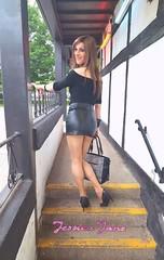 3 Steps to Heaven (jessicajane9) Tags: leather tv cd skirt fem tgirl transgender lgbt transvestite trans miniskirt ts tg ladyboy feminization m2f feminized boy2girl
