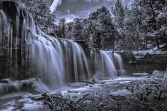 Keila juga (Jens Lax) Tags: monochrome waterfall wate estland keilajoa