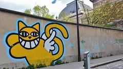 Monsieur Chat_1642 rue Croulebarbe Paris 13 (meuh1246) Tags: streetart paris chat animaux paris13 monsieurchat ruecroulebarbe