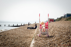 149/366 - Nice day out (roblee.photography) Tags: beach oneaday seaside doll stones may photoaday milford buggy groyne beachhuts pictureaday 2016 project365 ef24105mmf4lisusm project365149 canoneos6d project36528may16