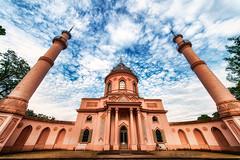 mosque complete / 12mm (Nicky Nikon) Tags: germany garden religion rosa mosque architectural garten schlossgarten schwetzingen castlegarden glaube moschee uww wildeangle