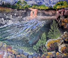 Low Force (tina negus) Tags: art painting waterfall acrylic durham teesdale lowforce