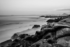Desde el Cabo I - From the Cape I (jmpastorg) Tags: sea blackandwhite bw espaa byn blancoynegro landscape mar spain mediterraneo paisaje led alicante 1855 largaexposicin longeexposure cabohuertas d5100