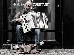 In a melancholy mood (ed mather) Tags: street musician photography utrecht melancholy accordeon steenweg straatmuzikant melancholie accordeonist