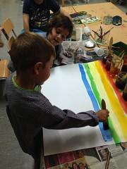 tapa juny (glorietaft) Tags: colors arc tapa sant pintura juny brocha mart creativitat nom arcdesantmart degradat ratlles anilina estampaci horitzontals