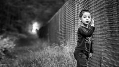 Arthur walking dead (Garret . O) Tags: child walking dead black white bw wood foret enfant nb noir et blanc