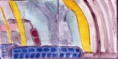wo waren die Stunden geblieben, die wir verbrachten (raumoberbayern) Tags: auto city pink winter bus fall smart car pencil paper munich mnchen landscape herbst tram sketchbook stadt papier landschaft bleistift robbbilder skizzenbuch strasenbahn