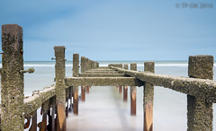 Happisburgh (TP DK) Tags: longexposure sea sand posts groin defenses