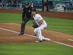 John Jaso (david-shank) Tags: pittsburgh baseball longhair pncpark mlb umpire pittsburghpirates bucs firstbase buccos firstbaseman