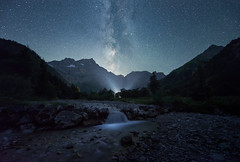 Starmazing night (@hipydeus) Tags: mountains alps stars waterfall timelapse wasserfall berge nightsky milkyway milchstrasse