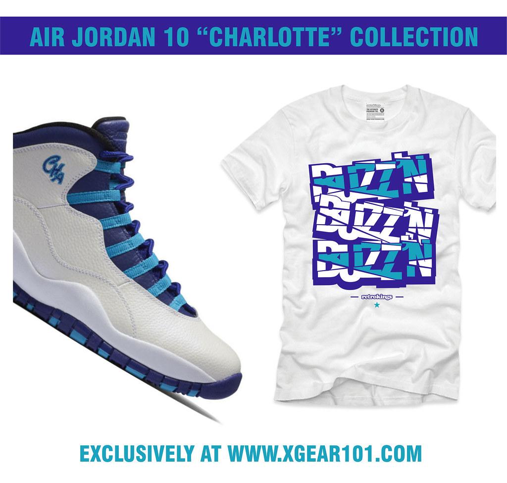 985fa9161001 AJ 10 CHA XGEAR (XGEAR101) Tags  shirt clothing charlotte air jordan shirts  sneaker match hornet matching