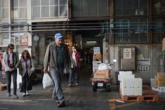 foreign tourists in Tokyo fish market (kasa51) Tags: street people japan tokyo tourist tsukiji fishmarket foreigner