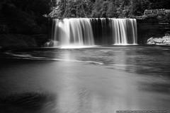 Upper Tahquamenon Falls (mhoffman1) Tags: michigan rootbeerfalls silverefexpro sonyalpha tahquamenonfallsstatepark tahquamenonriver up upperpeninsula a7r blackandwhite longexposure monochrome river water waterfall
