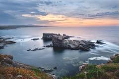 Rock ship's (steliyan.stoyanov) Tags: seascape rock sunrise ship bulgaria colourfull sinemoretz