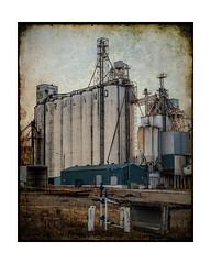 Farmland (Terry L. Olsen) Tags: morning summer grainelevator vanburenarkansas texturedphoto ononesoftware lightroomcc