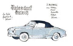 à Bensberg, avec les copains... (gerard michel) Tags: auto vw sketch karmann croquis ancêtre