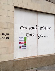 IMG_20160409_153419 (Cocomilie) Tags: wall graffiti tags anarchism slogan nantes manifestation punchline loitravail