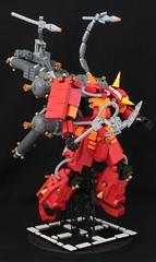 LEGO model of Psycho Zaku from Gundam Thunderbolt (SPARKART!) Tags: anime toy robot lego psycho zaku thunderbolt ms06r sparkart