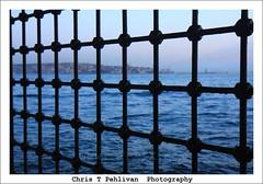Istanbul behind Bars! (CTPPIX.com) Tags: voyage trip travel sunset sea vacation mer canon fence turkey eos bars urlaub turkiye istanbul ctp deniz turchia besiktas turkei 40d christpehlivan ctppix ctppixcom
