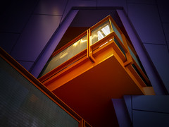 Zest (Mr sAg) Tags: orange building architecture purple theatre interior balcony salfordquays salford lowry sag thelowry simonharrison mrsag simonharrison