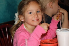 Carly eating chips and salsa (Marlisa Osborne) Tags: fieldtrip preschool cincodemayo allaboutkids
