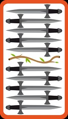 10 d'Épée (aluniverse) Tags: bâtons coupes épées deniers tarotdemarseille arcanesmineurs arcanemineur 56cartes