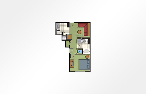 Bluegreen Club 36™ 1-Bedroom - 480 sq ft