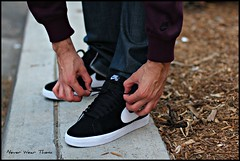 WDYWT 3-31-12 (Never Wear Them) Tags: white black shoe shoes flickr you nike wear skate skateboard what did today blazer sb suede niketalk wdywt sbblazer blackwhiteblazer
