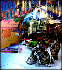 Precious Shoes (Pifou 2010) Tags: street city light paris france reflection art colors town shoes magasin couleurs lumiere boutique storewindow stores rues reflets ville chaussures 2012 vitrines gerardbeaulieu pifou2010 storesdisplays preciousshoes enteredinsyb