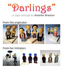 """Darlings"" by Heather Braaten (Ochre Jelly) Tags: memorial lego fig heather character figure darlings 2012 moc afol brickcon ffol sealug heatherlegogirl braaaten"