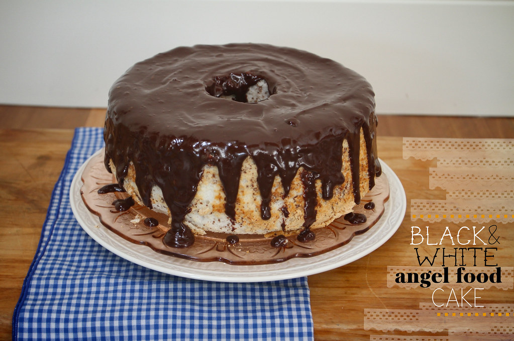 black & white angel food cake