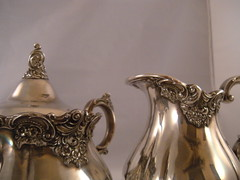 X LARGE ORNATE WALLACE GRAND BAROQUE 6 PIECE SILVER PLATE COFFEE TEA SET & TRAY (BuySell555) Tags: 6 coffee set silver tea large plate grand x wallace tray ornate piece baroque silverplate