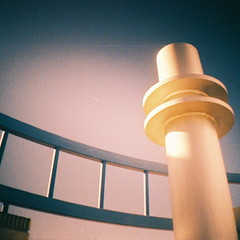 Space Age (kevin dooley) Tags: light shadow arizona sky white color film metal museum modern century analog 35mm square photography photo lomo xpro lomography crossprocessed mod angle tucson space air gray hipster 21st rail az retro pole pima diana age curve vignette 2012 21stcentury pimaairmuseum pimaairandspacemuseum modish spageage tempecamera dianamini pimaspacemuseum
