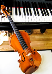 Best Friends (Genevievery) Tags: wood music piano violin strings instruments