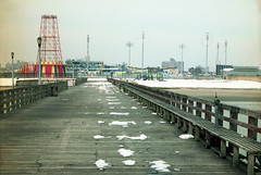 Vintage Coney Island (Philippe Yong) Tags: ny newyork 35mm vintage coneyisland cityscape kodak nikonf2 200rb philippeyong wwwpyphotographyfr