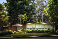 Elton Residence (Chimay Bleue) Tags: california ranch santa trees house men home architecture modern forest design los woods 60s pacific angeles suburbia modernism front architect socal monica craig 50s mad elevation modernist palisades 1951 midcentury ellwood singlefamily