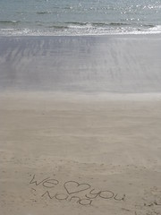love you nana (mathew-96) Tags: sea beach water wales writing sans
