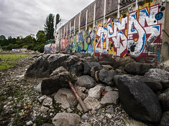 Graffiti Beach (hinkins) Tags: ca camera canada art beach vancouver lens graffiti bc britishcolumbia kitsilano northamerica englishbay yvr ep3 gvrd metrovancouver greatervancouver greatwhitenorth olympuscamera olympuslens micro43 mzuikodigital12mmf20 m12mm