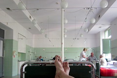 hospital POV (porrectus) Tags: selfportrait feet canon hospital oldschool powershot syndrome drip doctor warsaw nurse sickness medicalsystem treatment crucified wola a1200 pocka igichp