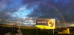 This is my Job (fischstarr) Tags: panorama rainbow newchurch futurechurch iphone4 wwwnewlifeanglicanorgau oranparktown