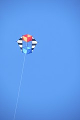 Compound box ,triangle kite in flight (Elsie esq.) Tags: sky kite fly flying box line string 50700mm