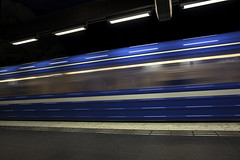 Speed train (Mabry Campbell) Tags: city longexposure blue motion speed train canon subway photography photo movement europe photographer blueline image sweden stockholm may terminal capitol photograph le 100 sverige 20mm scandinavia centralstation 2012 stations fineartphotography mabry thecapitol architecturalphotography f13 capitolcity commercialphotography 20sec ef1740mmf4lusm architecturephotography commercialphotographer fineartphotographer architecturalphotographer houstonphotographer architecturephotographer mabrycampbell may92012 racingpast 201205098196 mabrycampbellcom