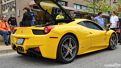 Ferrar 458 (Chad Horwedel) Tags: yellow illinois ferrari exotic import sportscar bolingbrook 458 supercarsaturday promenademall ferrari458
