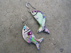 Fishy (feelingfimo) Tags: fish handmade jewelry polymerclay fimo earrings