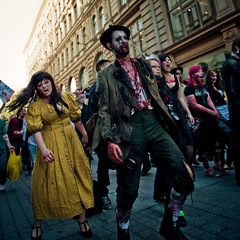 (mrksaari) Tags: city monster finland square dead living blood helsinki zombie walk gore horror terror undead corpse reanimated zombiewalk d700 2470mmf28g survivalofthesickest